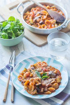 One Pot vegetarian Orecchiette No Salt Recipes, My Recipes, Italian Recipes, Dinner Recipes, Veggie Pasta, Veggie Dishes, Pasta Salad, One Pot Vegetarian, Vegetarian Recipes