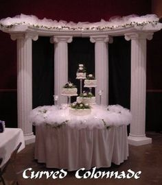 Wedding, Cake, Table, Columns, All occasions plus