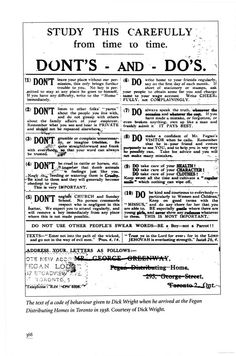 Dont's and Do's, 1938