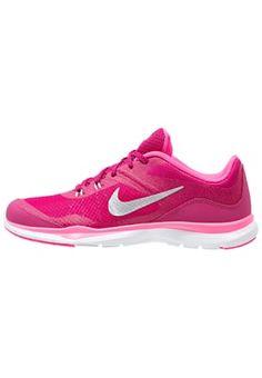 Nike Performance FLEX TRAINER 5 - Trainings- / Fitnessschuh - spirit fuchsia/metallic silver/pink pow/vivid pink - Zalando.de