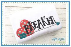 Heart Breaker Applique Design