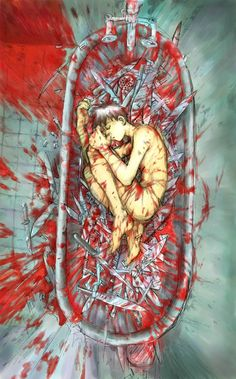 """Bloody Guy Anime Boy 