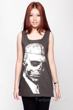 Zombie Boy Tops Shirt Rick Genest Tattoo TShirt par TwinnyPrint, $15.99
