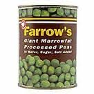 Farrows Marrowfat peas covered in white pepper with ya Sunday roast