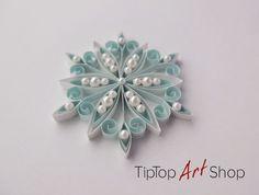 Quilling Schneeflocke Ornament für Ihre Weihnachts-Dekoration