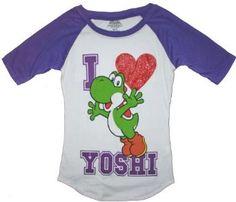 Super Mario Yoshi Junior Girls T Shirt