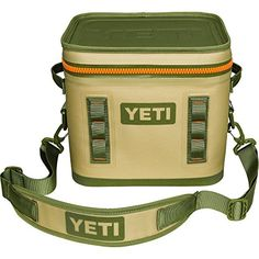 788d953a6ff1 Yeti Hopper Flip 12 Cooler Field Tan Blaze Orange - Personal Coolers- Soft Hard at Academy Sports. A Mom and Her Kids
