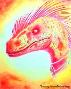 REPTILE Neon raptor.