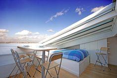 Glass ceiling - indoor terrace | toit ouvrant - terrasse intérieure