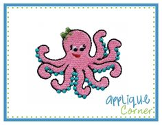 Octopus Girl Filled Mini Embroidery Design