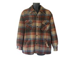 Lumbersexual Men Plaid Coat Men Plaid Jacket by ShineBrightVintage