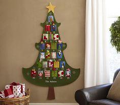 Árbol de navidad y calendario de adviento a la vez / Christmas tree and advent calendar all in one