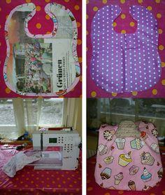 #cupcake #bib Kegel, Apron, Cupcake, Handmade, Crafts, Hand Made, Manualidades, Cupcakes, Cupcake Cakes