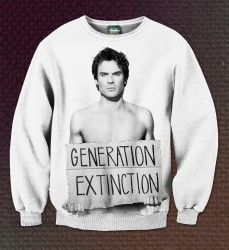 Свитшот Дневники Вампира - Generation extinction