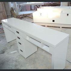 Wholesale modern european salon furniture cheap white manicure table