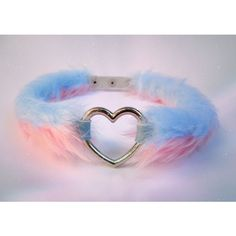 Furry Fluffy Pink Heart Choker Collar Kawaii Fur Punk Necklace Pastel... ($26) ❤ liked on Polyvore featuring jewelry, necklaces, choker collar necklace, gothic necklace, heart shaped necklace, goth choker and pink necklace