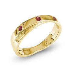 Garnet Yellow Gold Ring  - Ring with GarnetRing with Garnet (Yellow Gold 14ct)  Alisha 21Collection