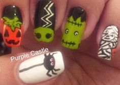DIY halloween nails: DIY Halloween nail art : Another Halloween Manicure