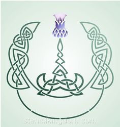 love thistles and celtic stuff.... when I get my crappy tattoo fixed up it will have a celtic knot behind it.