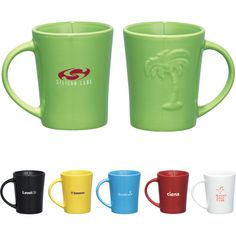 These mugs feature 14-oz capacity. Useful and attractive, these mugs are a must-have item for just about everybody. Take your promotional efforts into kitchens and break rooms the world over when you have these mugs imprinted with your company logo, brand name, or custom message.