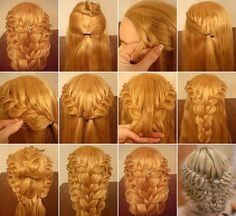 Gorgeous Overlapping Braids Hairstyle for Brides