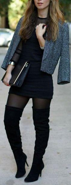 Look sexy para tus botas largas                                                                                                                                                      Más #botas