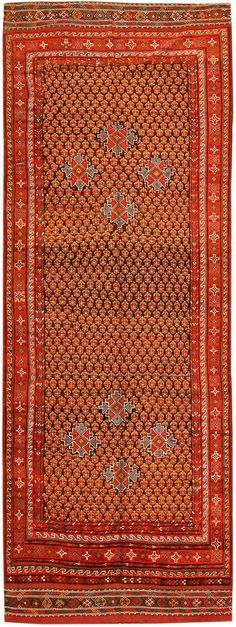 Afshar Rug, Persia, Late 19th Century - Afshar carpets like this are notable for combining classical design traditions with the abstraction and expressiveness of tribal rug weaving.