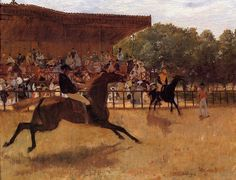 The False Start,1860 by Edgar Degas