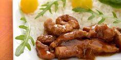 porc au caramel à la chinoise Pork Recipes, Asian Recipes, My Recipes, Pork Stir Fry, Wok, Tasty Dishes, Bacon, Food Porn, Food And Drink