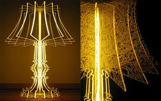 The amazing glass lamp....