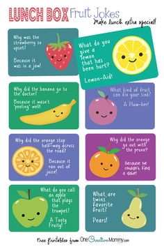 Lunch Box Jokes {Cute Fruit Jokes!}