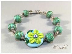 New bracelet https://www.etsy.com/de/listing/294342229/handmade-lampwork-bracelet-flowers-fresh