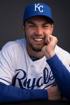 "Eric Hosmer - KC Royals ""Hey Eric, whatcha thinkin' about?"" ""I dunno...baseball stufs""  :P Stop being so damn cute. lol"