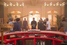 The Grand Budapest Hotel on set
