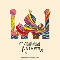 Abstract Ramadan Kareem mosque
