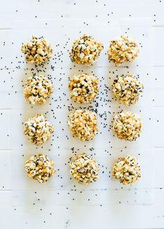 Miso Black Sesame Caramel Popcorn Balls from @lindseyjohnson