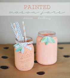 Painted Mason Jar : Garden Party // Delineate Your Dwelling #masonjars