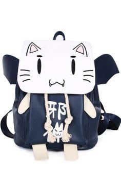 0ec5ac52403 Ao no Kanata no Four Rhythm Anime Cat Backpack Cat Backpack, Anime Cat,  College