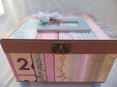 Vintage looking Keepsake Memory Trinket Box. Gift by MyMemoryBoxes, $32.00