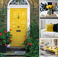 How to Use a Yellow Colored Front Door - Catherine French Design - Chapel Hill