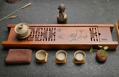 "Bamboo Tea-Tray ""Wu Dao"" double-layered 70cm*16cm*5cm via Wu Dao Shu - Shop. Click on the image to see more!"