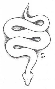 ideas tattoo snake design deviantart for 2019 Outline Drawings, Cool Art Drawings, Pencil Art Drawings, Art Drawings Sketches, Animal Drawings, Tattoo Drawings, Drawings Of Snakes, Tattoo Outline Drawing, Hipster Drawings
