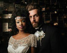 Gorgeous interracial couple wedding photography #love #wmbw #bwwm #favorite ❤