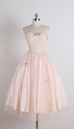 Aceline . vintage 1950s dress . vintage party by millstreetvintage