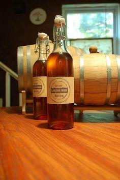 Whiskey Barrel Aged Maple Syrup