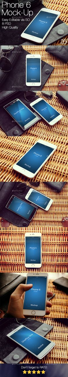iPhone 6 Mockup | #iphone6mockup #mockup | Download: http://graphicriver.net/item/edit-phone-6-mockup-v2/10399362?ref=ksioks