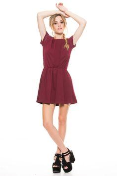 Vestido Cindor - Bordeaux en DeluxeBuys!