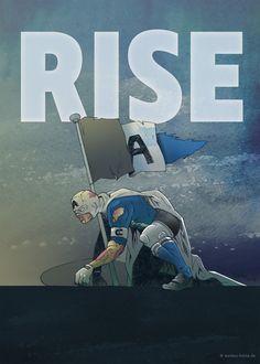 Enough talking, boys in blue … Artwork for my favorite football team DSC Arminia Bielefeld.