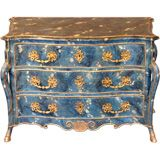 Unusual Southern French Commode Frederick P. Victoria & Son, Inc. Offered by Frederick P Victoria and Son, Inc. 21st Century and Contemporary American Commodes and Chests of Drawers Wood, Brass