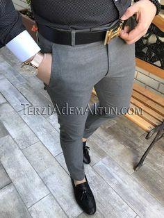 Michail score slim fit koyu gri renk erkek kumaş pantolon T2355 Mens Fashion Wear, Big Men Fashion, Best Mens Fashion, Mens Plaid Pants, Mens Dress Pants, Blazer Outfits Men, Stylish Mens Outfits, Indian Wedding Suits Men, Mens Designer Shirts